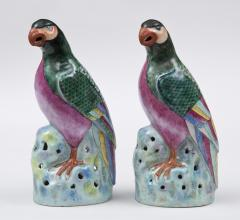 Pair Chinese Famille Rose Parrots - 267179