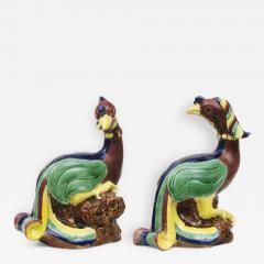 Pair Chinese Phoenix Birds Circa 1840 - 267854