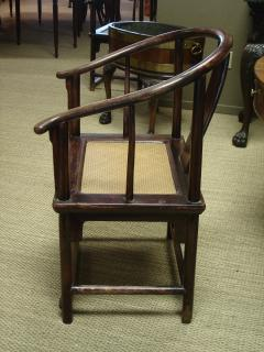 Pair Chinese horseshoe back chairs - 2075415