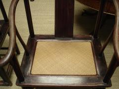 Pair Chinese horseshoe back chairs - 2075416