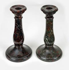 Pair Cornish Serpentine Marble Candlesticks - 1246623