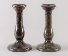 Pair Cornish Serpentine Marble Candlesticks - 1246626