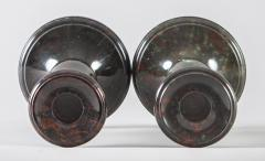 Pair Cornish Serpentine Marble Candlesticks - 1246628