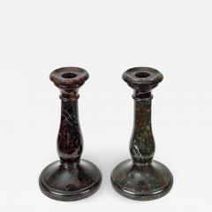 Pair Cornish Serpentine Marble Candlesticks - 1248232