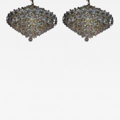 Pair Crystal Modernist Chandelier - 1873534