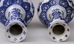 Pair Dutch Delft Bottle Vases - 143020