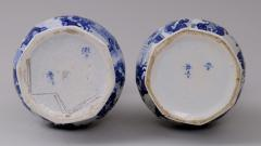 Pair Dutch Delft Bottle Vases - 143021
