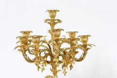 Pair Eight Armed Gilt Bronze Candelabras - 1337239