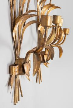 Pair French Gilt Metal Wall Sconces - 1255435
