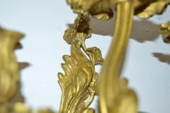 Pair French Louis XV style Gilded Bronze Sconces - 1891439