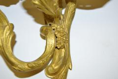 Pair French Louis XV style Gilded Bronze Sconces - 1891443