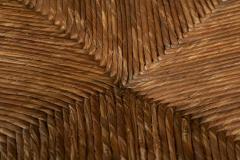 Pair French Oak Provincial Rush Bobbin Chairs - 1975712