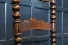 Pair French Oak Provincial Rush Bobbin Chairs - 1975713