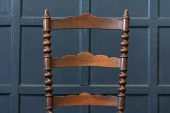 Pair French Oak Provincial Rush Bobbin Chairs - 1975714