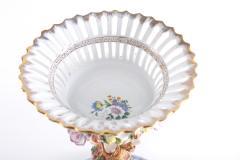Pair Gilt Gold Glazed Porcelain Decorative Pieces - 2108261