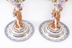 Pair Gilt Gold Glazed Porcelain Decorative Pieces - 2108264