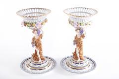 Pair Gilt Gold Glazed Porcelain Decorative Pieces - 2108265