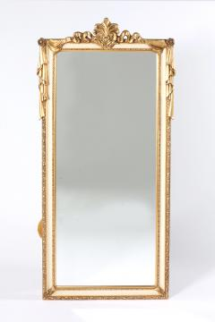 Pair Giltwood Framed Beveled Hanging wall Mirror - 1574327