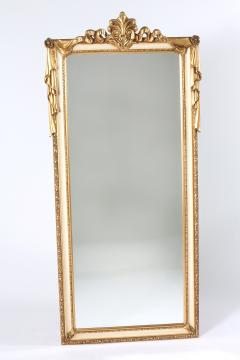 Pair Giltwood Framed Beveled Hanging wall Mirror - 1574332