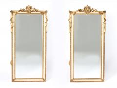 Pair Giltwood Framed Beveled Hanging wall Mirror - 1574333