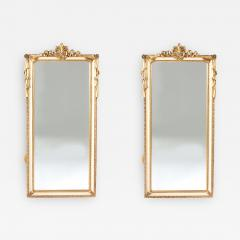 Pair Giltwood Framed Beveled Hanging wall Mirror - 1574863