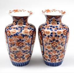 Pair Imari Open Vases Circa 1890 - 780559
