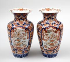 Pair Imari Open Vases Circa 1890 - 780564