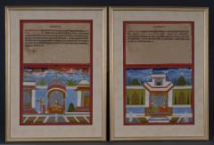 Pair Indian Miniature Tala Paintings - 145043
