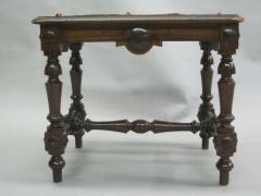 Pair Italian 19th Century Hand Carved Modern Neoclassical Wood Benches or Stools - 1787301