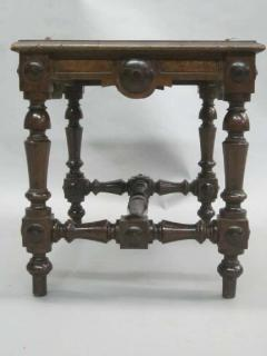 Pair Italian 19th Century Hand Carved Modern Neoclassical Wood Benches or Stools - 1787303