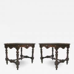 Pair Italian 19th Century Hand Carved Modern Neoclassical Wood Benches or Stools - 1791332