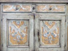 Pair Italian Baroque Polychrome Painted Credenzas - 1932369