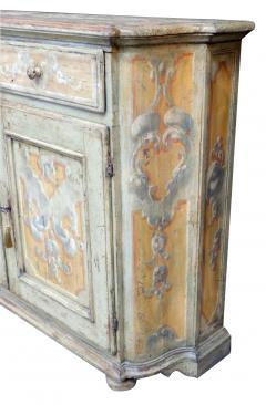 Pair Italian Baroque Polychrome Painted Credenzas - 1932370