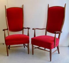 Pair Italian grand scale armchairs - 721129