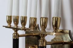 Pair Large Mid Century Italian Brass Wall Lights - 2052084