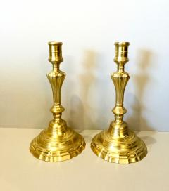 Pair Louis XV Brass Candlesticks 18th Century - 1388239