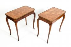 Pair Marquetry Side End Table - 1125583