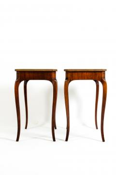 Pair Marquetry Side End Table - 1125593