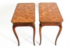 Pair Marquetry Side End Table - 1125595
