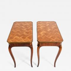 Pair Marquetry Side End Table - 1125741