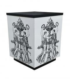 Pair Mid Century Italian Modern Storage Cube End Tables after Piero Fornasetti - 2059032