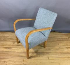 Pair Mid Century Lacquered Birch and Wool Armchairs - 1818986