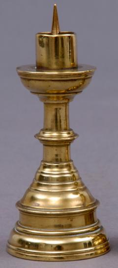 Pair Miniature French Brass Candlesticks Circa 1800 - 1702358