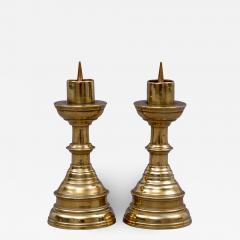 Pair Miniature French Brass Candlesticks Circa 1800 - 1704819