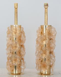 Pair Murano Flower Lamps - 1669781