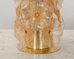 Pair Murano Flower Lamps - 1669793