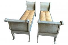 Pair Of 19th Century Italian Banquettes In Painted Wood - 1951119