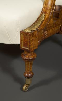 Pair Of Carved Birds Eye Maple And Gilt Brass Mounted Aesthetic Period Armchairs - 1908517