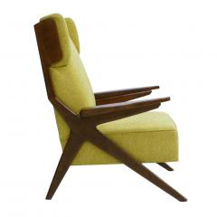 Pair Of Italian Armchairs In The Style Of Gianfranco Frattini - 1436338