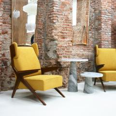 Pair Of Italian Armchairs In The Style Of Gianfranco Frattini - 1436346